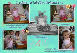 1. narozeniny - 2. oslava :-)