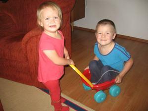 Ségra nemůže uvést bráchu:-)