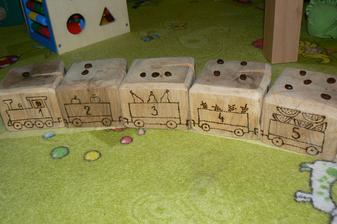 Zkoušeli jsme počítat. Zrníčka vyskládal po třetí vagon, další máma.