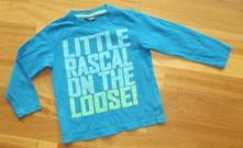Modré triko s nápisem vel. 2-3 roky, cherokee,98