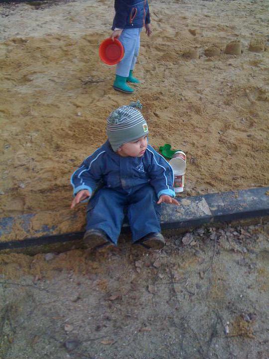 Hříbeček..ale písku se nedotkne, citlivka :-)