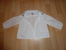 Dívčí haleknka bílá se srdíčky 9 -12 m, zara,80