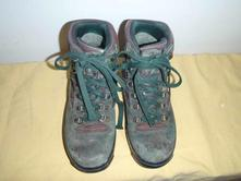 Zelené nepromokavé boty, pohorky, goretex, vel. 24, 38