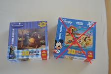 3d puzzle ratatouille 120 dílků - nehrané,
