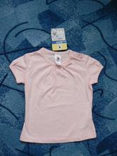 Nenošené triko s krátkým rukávem a mašličkou, c&a,74