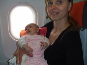 v letadle do Prahy