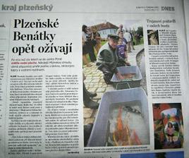 červen 2010... otevírání Mlýnské strouhy.. a naše Viki v novinách :-)