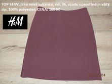 Kostičkovaná sukně  , h&m,36