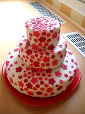 Svatební dort pro kamarádku - red velvet