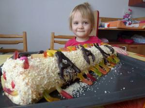 Oslavenkyně s dortíkem:-)