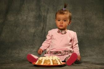 Focení 1. roku - s dortíkem