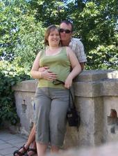 dovolená 2009, rodiče a já v bříšku v Mikulově