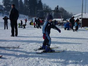 Malý lyžař:-)
