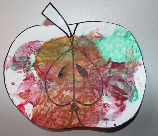 Jablko (tiskátka z půlky jablek)