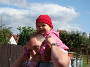 jahoda s tatínkem :-)