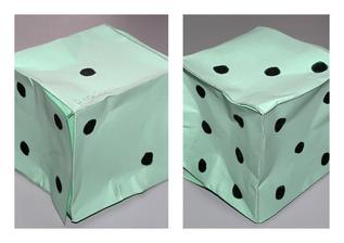 hrací kostka (skládání, lepení)