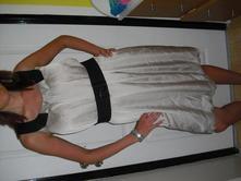 Saténové šaty-balónovitého střihu, reserved,40