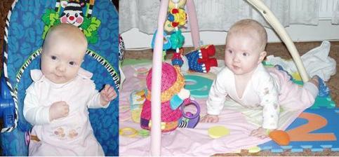 Esterka Kacenka od romcatka ve 3 a 6ti mesicich