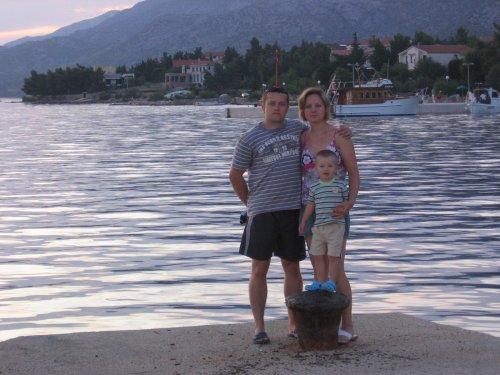 Naše rodinka (už i s mimí v bříšku)-dovolená Chorvatsko 09