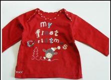 Vánoční tričko mé první vánoce, marks & spencer,68