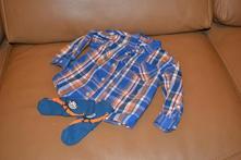 Bavlněná košile+ ponožky, h&m,86