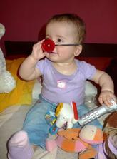 Narozeninový klaun pro Aničku :-D (chudáček celý poslintaný, jak mu rostou zuby :-D)
