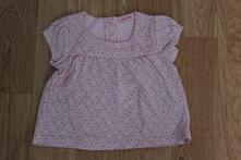 Puntíkovaná růžová tunika - tričko, cherokee,80