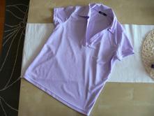 Dámské lila tričko s límečkem, new yorker,m