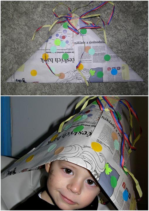 Večerníčkovská čepice šmrncnutá karnevalovým veselím
