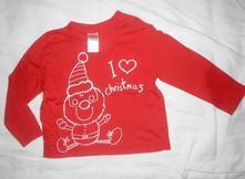 Tričko miluji vánoce, tesco,86