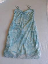 Letní batikované šaty na ramínka, dvě vrstvy, miss selfridge,m