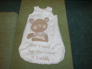 ve spacím pytlu se bude krááááásně hajat, Peťa nemohl odolat:-)