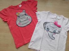 Růžové tričko se slonem, h&m,86