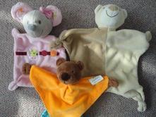 Usínáčci - růžová myška a oranžový medvídek,