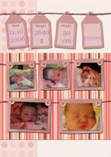 Kristýnka po porodu :)