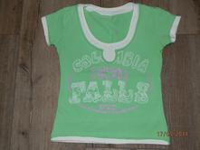 Zelenkavé elastické tričko, s