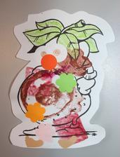 brambor (bramborová tiskátka + lepení ozdůbek)