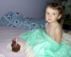 Narozeninová snídaně do postele! Tři ročky - tři zákusky :))