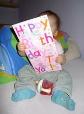 Moje první přání k narozeninám od tety Ivanky z Anglie :)