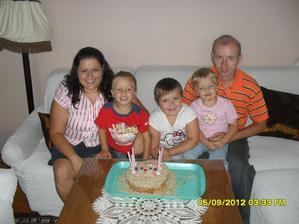 oslava Lucinčiných 6 let a celá rodinka
