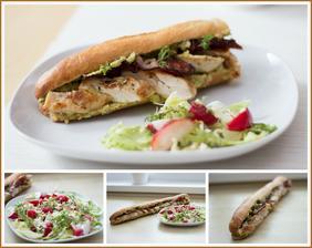 Mexická bageta s guacamole, salát - podle Jamieho Olivera
