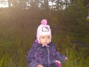 trpaslíček v lese na jehličí