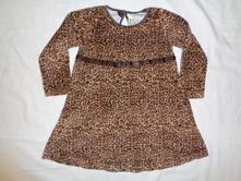 Luxusní teplejší tygrované šaty, h&m,92