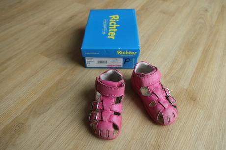 Růžové sandálky richter, richter,22