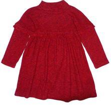 Úpletové melírované šaty s volánkem, next,98