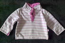 Vel. 74 růžová mikina s proužkem, 74