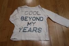 Bavlněné tričko s nápisem vel. 104, f&f,104