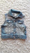Riflová vesta s kamínky, h&m,116