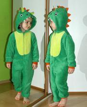 Chlupatý zelený overal krokodýl / dinosaur, f&f,104
