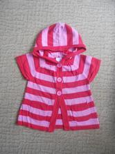 Pruhovaný svetr s krátkým rukávem, m&co,98
